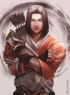 Young hanzo by Meiikiko