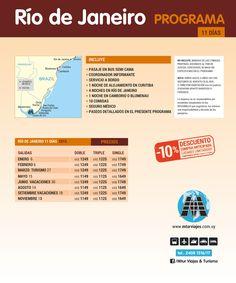 RIO Salidas: Fechas - Precios - Itinerarios - Opcionales