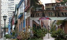 A jewel-box enclave called Pomander Walk is one of Manhattan's hidden gems. Designed to resemble an English chocolate box village, the homes within the area are a National Historic Landmark.
