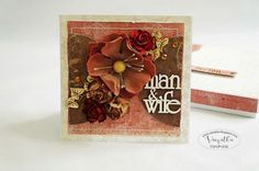 Wedding card with a flower # Kartka ślubna z kwiatem Wedding card with a flower # 2 - Fake Flowers, Wedding Cards, Scrapbooking, Box, Drawings, Wedding Ecards, Snare Drum, Sketches, Scrapbooks
