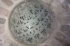 Sewer grate in Providence, RI