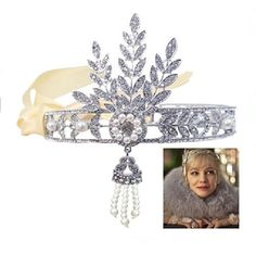 I ordered this for our Roaring 20's themed Christmas party off Amazon Prime.  It is AMAZING!!!  Even better in person.  The Great Gatsby Inspired Leaf Simulated Pearl Headband.