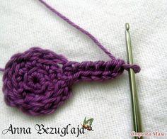 Delicadezas en crochet Gabriela: Orquídea de punto. Clase magistral.