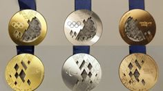 Sochi Olympics gold silver and bronze medals #sochi2014 #olympics
