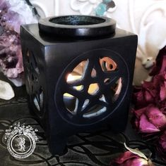 BLACK PENTACLE SOAPSTONE DIFFUSER - Aromatherapy Oil Burner | Blackthorn and Rose - Olde World Witchery Boutique and Botanicals