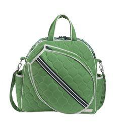 Slam Glam - Cinda B Verde Bonita Tennis Tote Bag.  Beautiful with embroidery!
