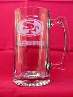 San Francisco 49ers HandEtched 25 Oz. Beer Mug Made by RmcEtching, $10.99