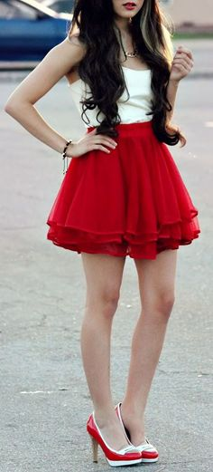 Delicacy Triple Layers Tutu in Red | I really like this and I don't quite know why