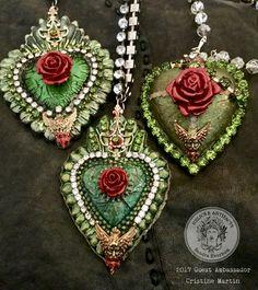 How to Create an Irish Rose With Cristine Martin Jewelry Crafts, Handmade Jewelry, Tin Art, Mexican Folk Art, Bijoux Diy, Heart Art, Heart Jewelry, Religious Art, Crochet Earrings
