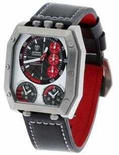 Detomaso - DT1013-B - Montre Homme - Quartz - Chronographe - Chronomètre - Bracelet cuir noir: Amazon.fr: Montres