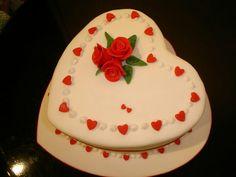 Anniversary love cake