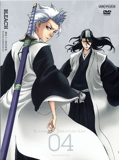Toshiro Hisugaya and Byakuya Kuchiki, two of my favorites from Bleach!