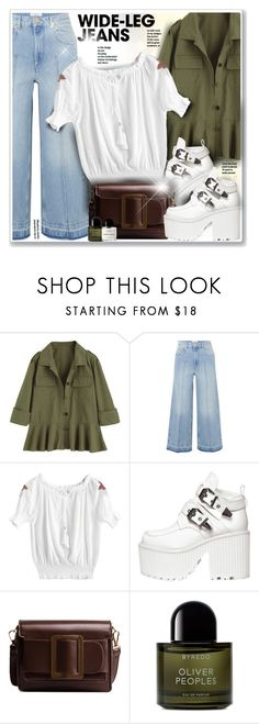 """""""Flare Up: Wide-Leg Jeans"""" by sneky ❤ liked on Polyvore featuring Étoile Isabel Marant, Byredo, denimtrend and widelegjeans"""