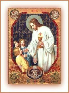 THIS IS My Body - vintage Holy Card