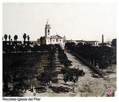 1900 ca. Iglesia del Pilar y cementerio de la Recoleta.