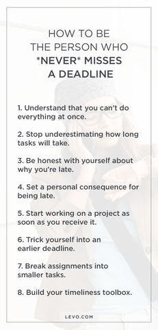 Make ALL of your deadlines with these #lifehacks.