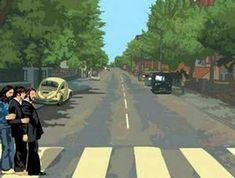 Abbey Road. Animación de Alvaro Ortega, tributo a los Beatles. No es intención de abrir un debate sobre Yoko Ono. Es sólo una broma gráfica.