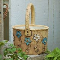Keramika / Zboží   Fler.cz Pottery Art, Pottery Ideas, Ceramic Pots, Earthenware, Flower Pots, Decoupage, Berries, Planters, Basket