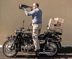 Luigi Cosmo, producer of fantastic  Prosecco from Bellenda winery and his Ural.