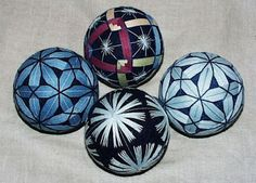 Temari balls -- traditional Japanese craft made out of thread.  So beautiful...SO time consuming to make.