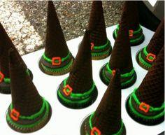 ice cream cone witches hats