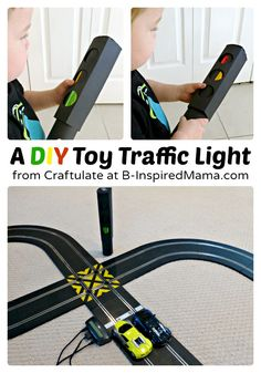A DIY Toy Traffic Light for Kids Transportation Play and Learning