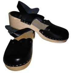 """SOLD!! Sandgren's Black Swedish Clogs. """"Milan"""" - worn once - size 40, fits 9.5 to 10.  Excellent condition. Was $139, now only $59 includes shipping!! #Shoes #Sandgrens"""