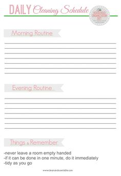 Final Daily Cleaning Schedule-resized