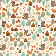 Raccoon Boy fabric by jongmee on Spoonflower - custom fabric