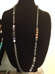 Chains.... With geodes, agate, fire agate...