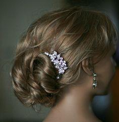 Swarovski Crystal Bridal Haircomb Hair Brooch by Lolambridal, $60.00