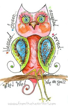 Items similar to Paisley Who Owl - Who loves you by Pam Coxwell on Etsy Scripture Art, Bible Art, Bible Verses, Scripture Images, Powerful Scriptures, Paisley, Pink Owl, Owl Art, Art Plastique