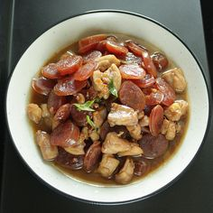 Chinese Sausage and Chicken in Soy Sauce <3