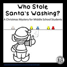 Who Stole Santa's Washing ? : A Christmas Secret Code Mystery Christmas Words, Christmas Fun, Team Building Skills, Secret Code, Critical Thinking Skills, Christmas Activities, Christmas Countdown, Word Work, Booklet
