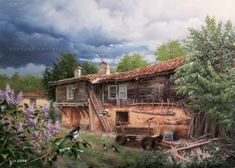 Old Houses, Home Art, Beautiful Places, Watercolor, Mansions, House Styles, Home Decor, Sandal, Traveling