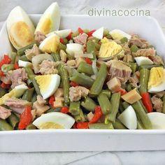 {Garbanzo} Chickpea salad with avocado and tuna fish - Laylita's Recipes Healthy Dinner Recipes, Vegetarian Recipes, Cooking Recipes, Clean Eating, Healthy Eating, Comidas Lights, Deli Food, Salad Recipes, Good Food