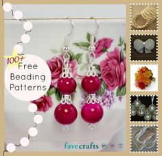 129 Free Beading Patterns | FaveCrafts.com (some projects have been pinned separately)