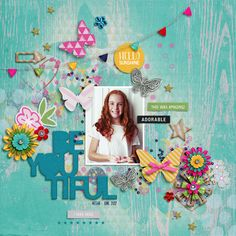 Digital Scrapbook Page by Kayla   Daydream by Bella Gypsy Designs