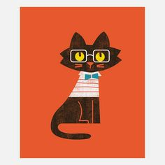 The Preppy Cat Canvas, $32.50, now featured on Fab.
