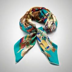 Ralph Lauren Moccasin-Print Silk Scarf