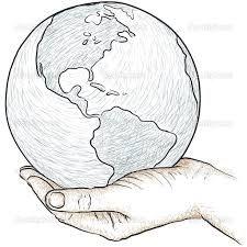 Hand drawing the dream travel around the world | Stock Photo ...