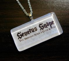 Severus Snape necklace. i want this