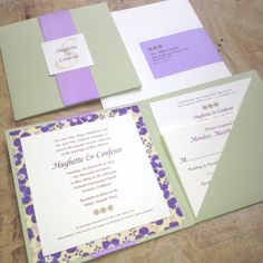 square wedding invitation folder