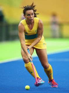 Georgie Parker of Australia in action during the Women's Pool B Match between India and Australia on Day 5 of the Rio 2016 Olympic Games at the Olympic Hockey Centre on August 10, 2016 in Rio de Janeiro, Brazil.