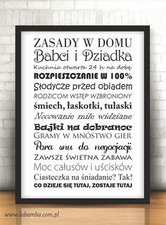 Plakat - Labamba - bo piękno tkwi w szczegółach. Grandma And Grandpa, Letter Board, Diy And Crafts, Presents, My Love, Memes, Funny, Kids, Home Decor