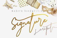 Signature Script Modern Handwriting by mycandythemes on Creative Market