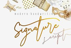 Signature Script Modern Handwriting by mycandythemes on Creative Market