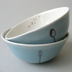 beautiful custom-made bowls