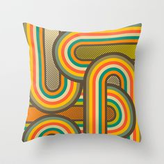 CONNECTIONS 10 Throw Pillow by Jazzberry Blue - $20.00