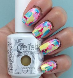 Gelish-Summer-2014-Dry-Brush-Stroke-Nail-Design-Art-Manicure-Marble